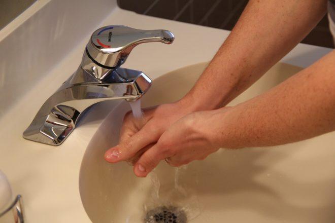 Lavage de mains. Image dillustration.