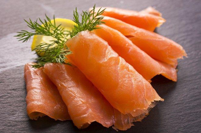 Image d'illustration, des tranches de saumon