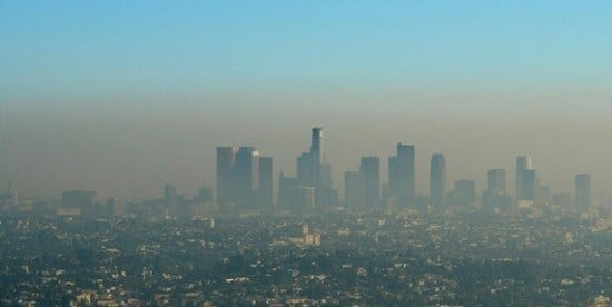 Une ville sous la pollution.