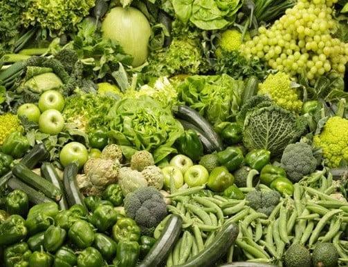 Des légumes verts.