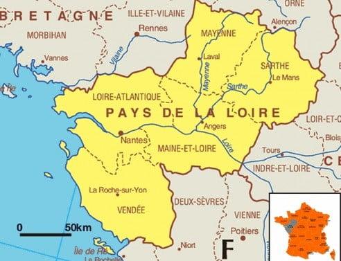La région Pays de la Loire.