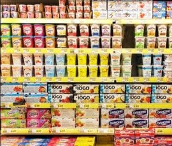 Un rayon de supermarché.