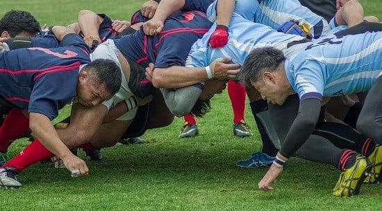 Des joueurs de rugby