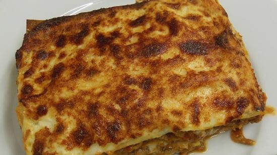 Des lasagnes