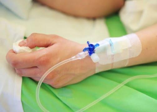 Une personne hospitalisée