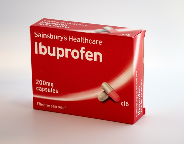 Boite d'ibuprofen