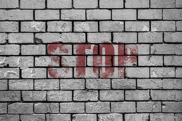 Un mur stop